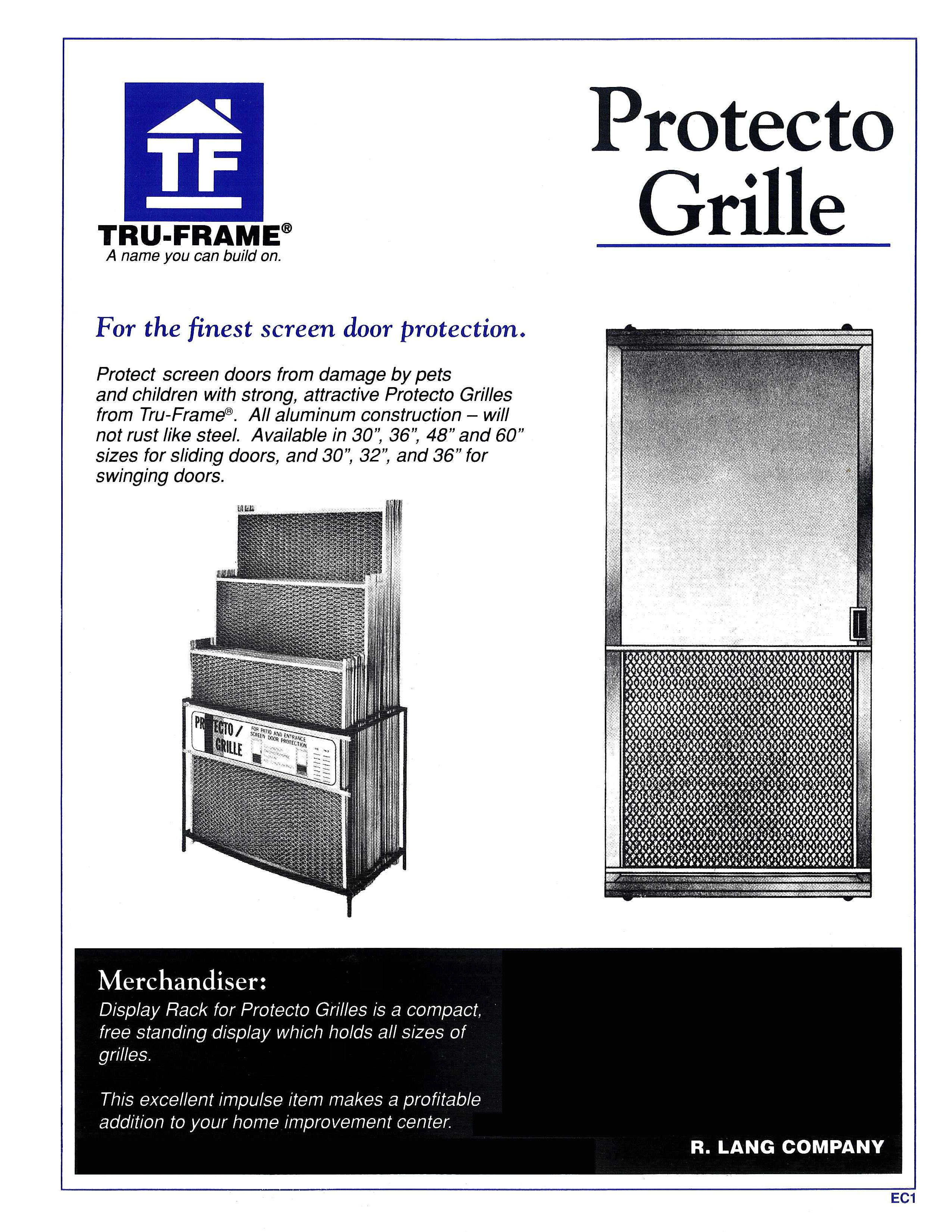 Tru frame a name you can build on online catalog e grille brochure vtopaller Image collections